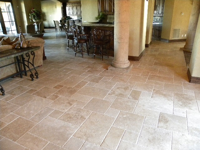 Walnut Brushed And Chiseled French Pattern Tile